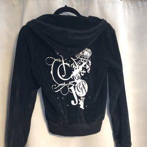Black valour Juicy Couture zip hoodie